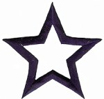 2 7/8'' - 7.3cm - Navy Blue Iron On Star Applique2 7/8'' - 7.3cm - Navy Blue Iron On Star Applique