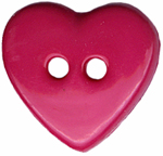 11/16'' by 5/8'' - 2 Hole -  Heart Button - Purple, Pink11/16'' by 5/8'' - 2 Hole -  Heart Button - Purple, Pink