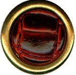 3/4'' - Burgundy Leather Center with Gold Edge - Shank Button3/4'' - Burgundy Leather Center with Gold Edge - Shank Button