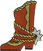2'' by 2 3/8'' Cowboy Boots Applique2'' by 2 3/8'' Cowboy Boots Applique