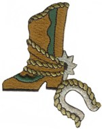 2 3/4'' by 3 1/4'' Iron On Cowboy Boot Applique2 3/4'' by 3 1/4'' Iron On Cowboy Boot Applique