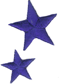2 Piece Star Applique Set - Royal Blue2 Piece Star Applique Set - Royal Blue
