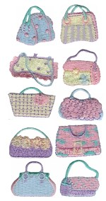 10 Piece Purse Applique Set10 Piece Purse Applique Set