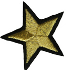 2'' - 5.1cm - Metallic Gold Star Applique2'' - 5.1cm - Metallic Gold Star Applique