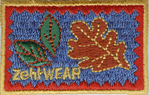 2'' by 1 3/8'' ZehWear with Leaves Patch Applique2'' by 1 3/8'' ZehWear with Leaves Patch Applique