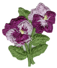 1 5/8'' by 1 3/4'' Pansy Applique1 5/8'' by 1 3/4'' Pansy Applique