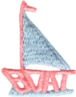 1 5/8'' by 2'' Sailboat Applique1 5/8'' by 2'' Sailboat Applique