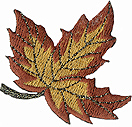 2'' by 2'' Leaf Applique - 3 Colors2'' by 2'' Leaf Applique - 3 Colors