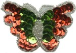 2 1/4'' by 1 1/2'' Christmas Butterfly with Pin Back2 1/4'' by 1 1/2'' Christmas Butterfly with Pin Back