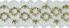 3/4'' White/Gold Lace3/4'' White/Gold Lace