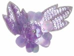 4'' by 3'' Lavender Beaded & Sequined Flower Applique4'' by 3'' Lavender Beaded & Sequined Flower Applique
