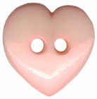 5/8'' - Light Pink - 2 Hole - Heart Button5/8'' - Light Pink - 2 Hole - Heart Button