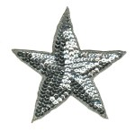 2 3/4'' - 7cm - Silver Star Applique2 3/4'' - 7cm - Silver Star Applique