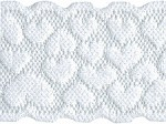1 7/8'' White Stretch Lace with Hearts1 7/8'' White Stretch Lace with Hearts