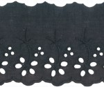 2 3/4'' Black Eyelet Lace Trim2 3/4'' Black Eyelet Lace Trim