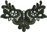 4'' by 2 3/4'' Black Venice Applique4'' by 2 3/4'' Black Venice Applique