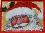 3 3/8'' by 2 3/8'' Santa Claus Iron On Applique3 3/8'' by 2 3/8'' Santa Claus Iron On Applique