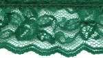 1 1/2'' Dark Green Gathered Lace1 1/2'' Dark Green Gathered Lace