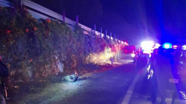 Hallan cadáver ardiendo en fuego en la autopista La Pera- Cuautla de Morelos