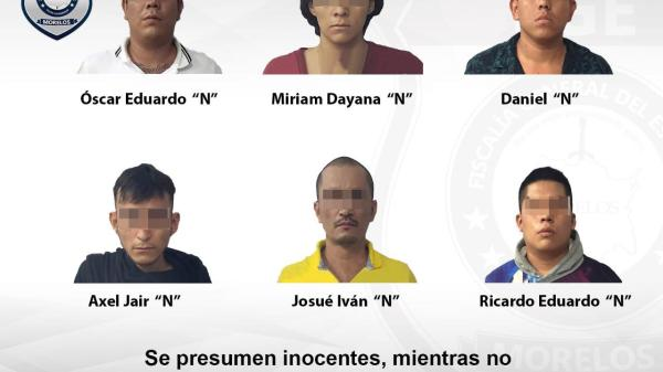 A proceso 6 hombres y una mujer que robaron en un restaurante de Tequesquitengo en Jojutla