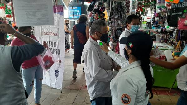 SDEYT visitó mercados públicos en Cuernavaca-Morelos para verificar el uso de las medidas sanitarias contra COVID-19
