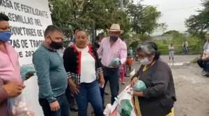 Entrega de fertilizante y semillas del Programa de productores de maíz, frijol y hortalizas de Traspatio Faede 2021 Temixco - Morelos
