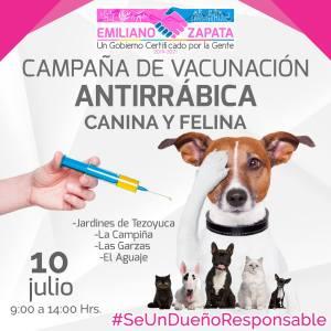 Campaña de vacunación antirrábica. Emiliano Zapata