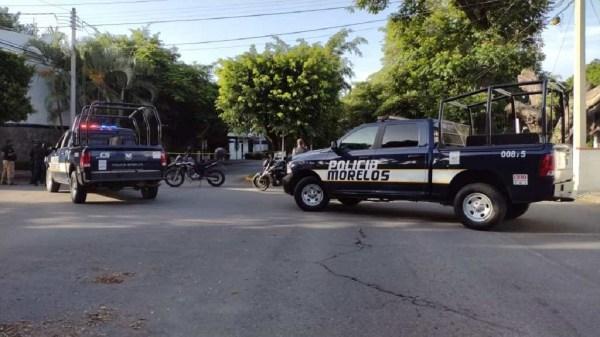 Herido de bala dejan a miembro de la Policía, en la colonia Pedregal de las Fuentes del municipio de Jiutepec