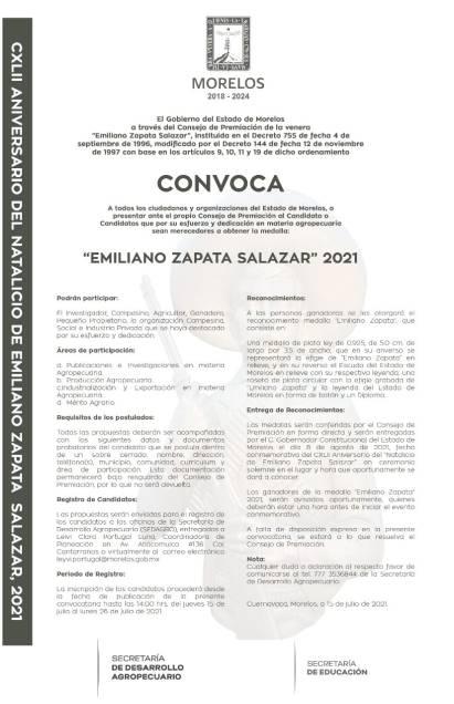 """medalla """"Emiliano Zapata Salazar"""""""