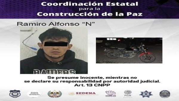 Policía Morelos - Jiutepe - Hombre detenido por robo de moto