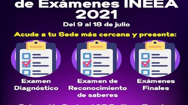 Quinta aplicación de exámenes del INEEA en Jiutepec, Temixco, Emiliano Zapata o Xochitepec