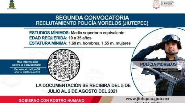 Reclutamiento Policía Morelos - Jiutepec