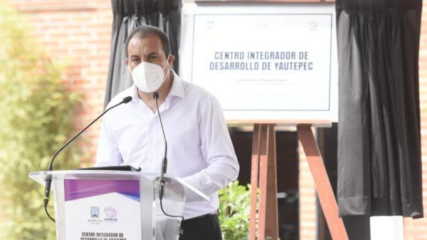 Cuauhtémoc Blanco inaugura Centro Integrador de Desarrollo en Yautepec