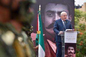 Conmemoran el 142 aniversario del natalicio del Gral. Emiliano Zapata Salazar