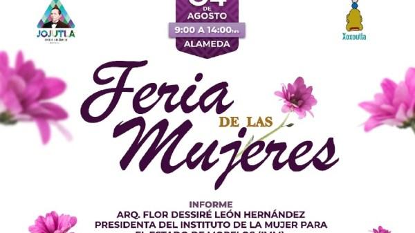 Feria de las Mujeres en Jojutla ofrecerá servicios gratuitos y a bajos costos en la Alameda