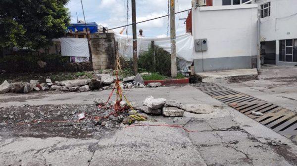 Coordinan rehabilitación de la Calle Belisario Domínguez en Cuautla tras ser afectada por las lluvias