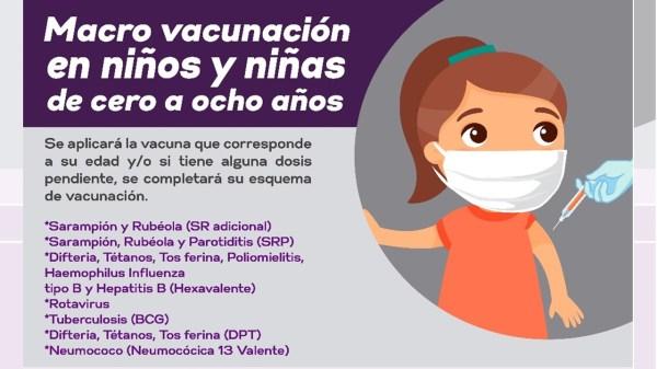 Macro Vacunación Para Niños De 0 A 8 Años De Edad Morelos
