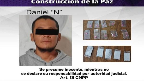 Detienen a motociclista por posesión de cocaína y piedra, tras persecución en Cuautla