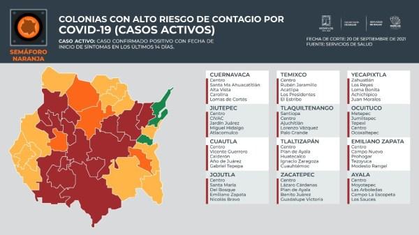 Estas Son Las Colonias Con Alto Riesgo De Contagios Por Covid-19 En Morelos