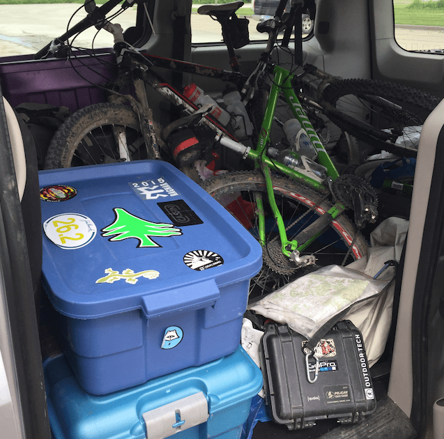 Words cannot describe how badly the vehicle smelled on the way home from our wet, sweaty gear.