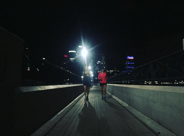 I was at a conference for half of last week and got in a pre-sunrise run.