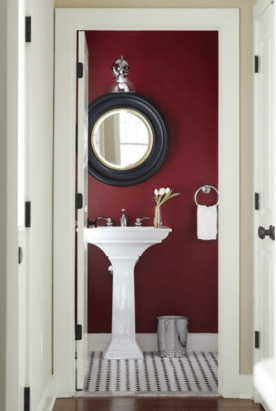 bathroom interior design marsala color