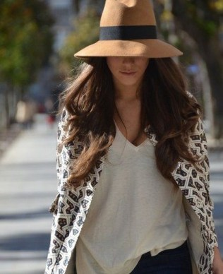 Camel Color Wool Hat (1)