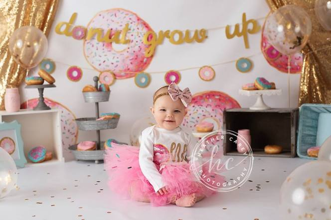 Donuts about you cake smash Photo backdrop
