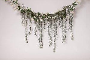 Floral Hanging Garland photo backdrop