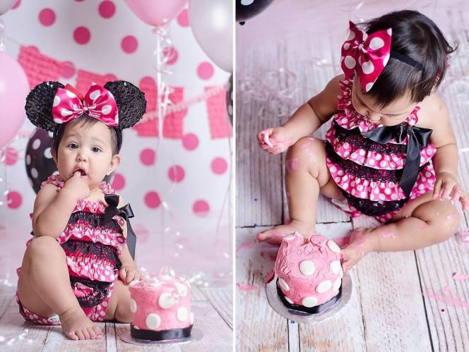 Pink Polka Dot themed Photo Backdrop