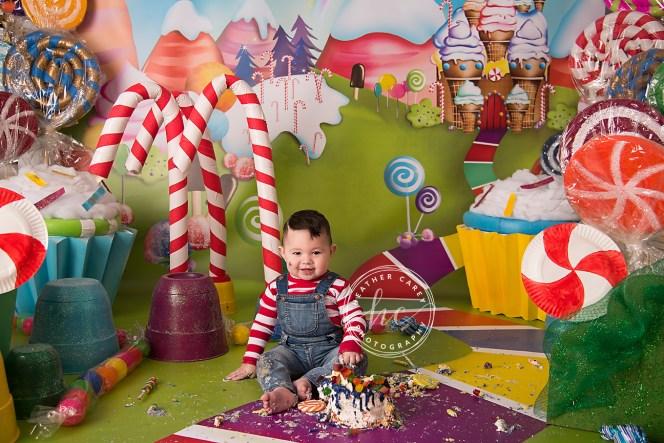 Candy Land cake Smash Photography Backdrop