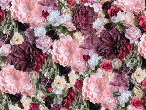 Large Pink Floral Wall Photo Backdrop