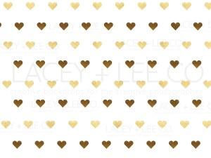 Gold Foil Hearts photo backdrop