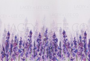 Springtime Lavender Fields Photo Backdrop